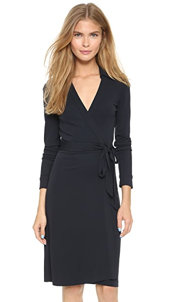 Diane Von Furstenberg New Jeanne Two Wrap Dress - Navy