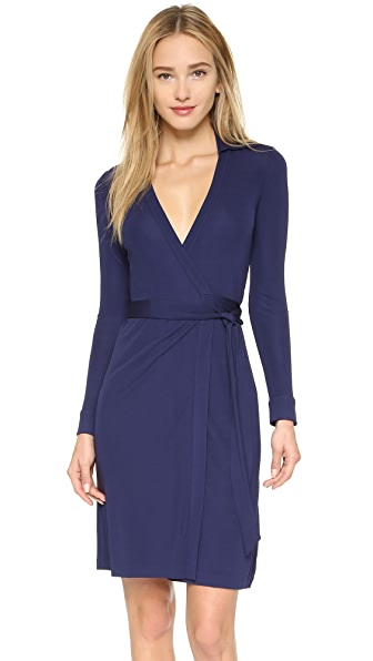Diane Von Furstenberg New Jeanne Two Wrap Dress - Midnight
