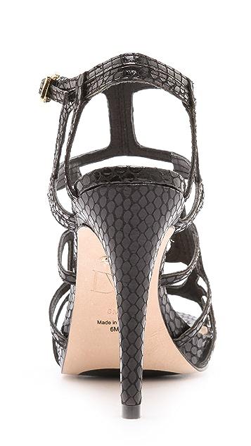Diane von Furstenberg Jeanette Caged Sandals
