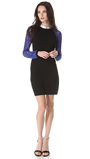 Diane von Furstenberg Isla Lace Sweater Dress