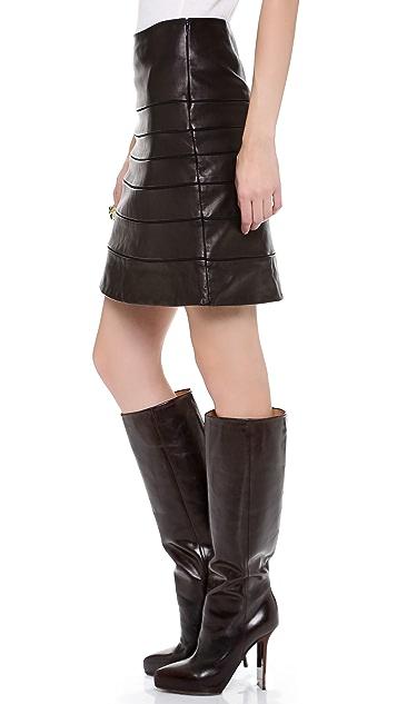 Diane von Furstenberg Beverly Leather Skirt