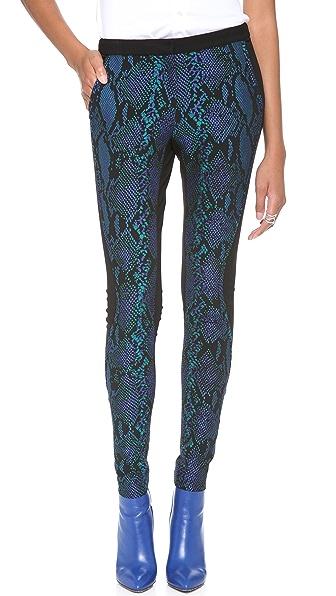 Diane von Furstenberg Addy Python Print Pants