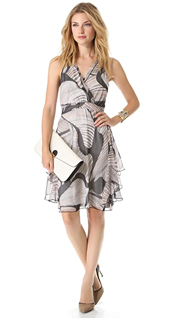 Diane von Furstenberg Nydia Chiffon Slit Back Dress