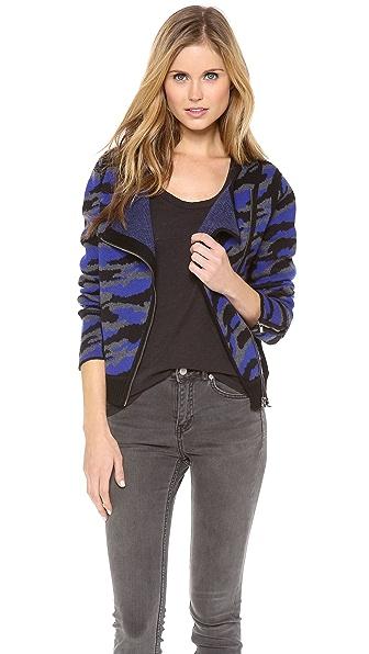 Diane von Furstenberg St Regis Moto Sweater