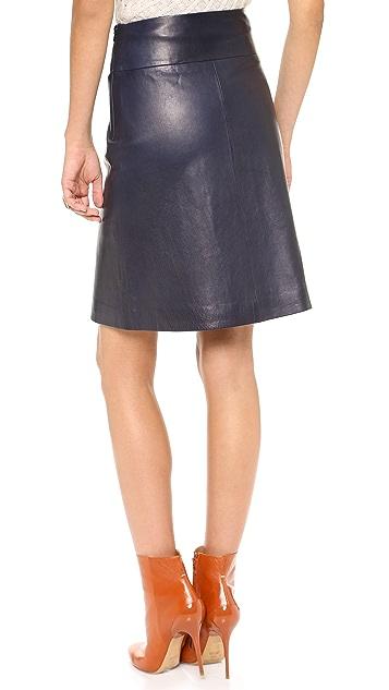 Diane von Furstenberg Betsey Leather Skirt