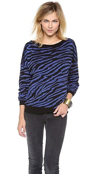 Diane von Furstenberg Estelle Zebra Sweater