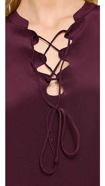 Diane von Furstenberg Olive Tunic Top