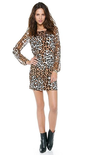Diane von Furstenberg Alagna Leopard Print Sweater Dress