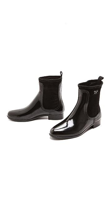 Diane von Furstenberg Elastic Rain Booties