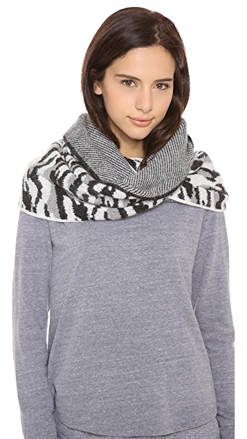 Diane von Furstenberg Darrene Animal Circle Scarf