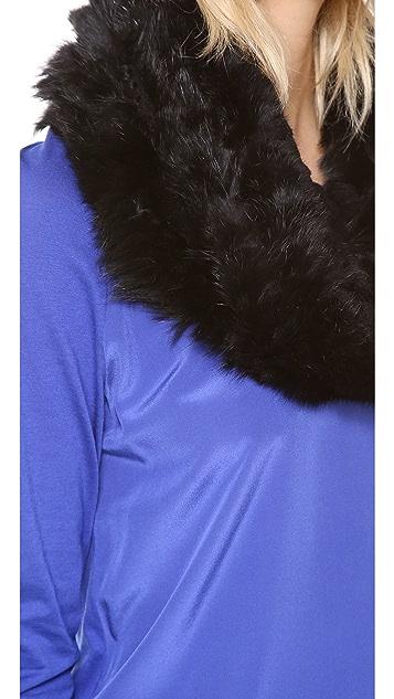 Diane von Furstenberg Delila Popcorn Fur Scarf