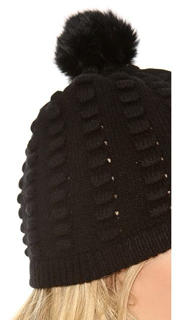 Diane von Furstenberg Dena Popcorn Fur Hat