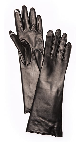 Diane von Furstenberg Fur Lined Snap Gloves