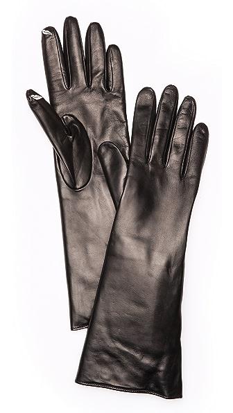 Diane von Furstenberg Fur Lined Snap Gloves