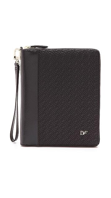 Diane von Furstenberg Chain Link Quilted Leather iPad Mini Case