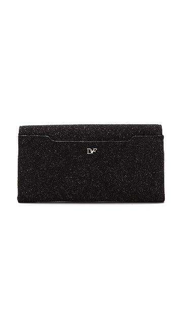 Diane von Furstenberg Envelope Diamond Dust Clutch
