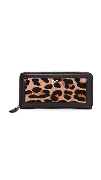 Diane von Furstenberg Adore Haircalf Continental Wallet