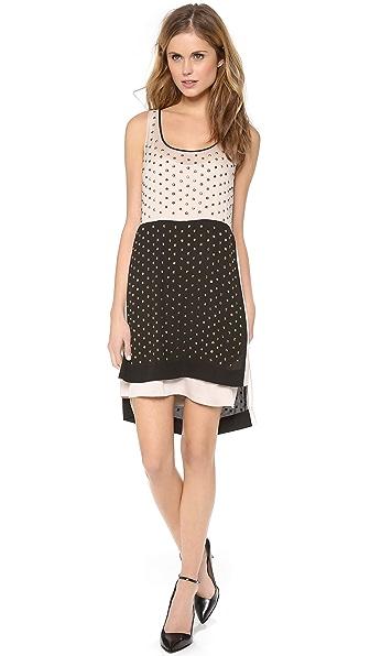 Diane von Furstenberg Abrielle Crystal Scoop Colorblock Dress
