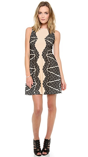 Diane von Furstenberg Daniella Lace Detail Dress