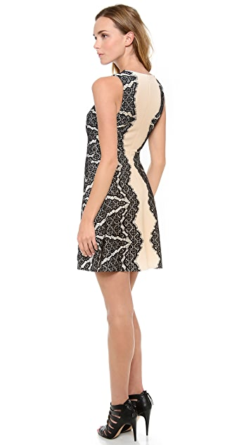 Diane von Furstenberg Daniella Lace Detail Dress