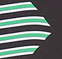 Sailor Chevron Hot Green/Black