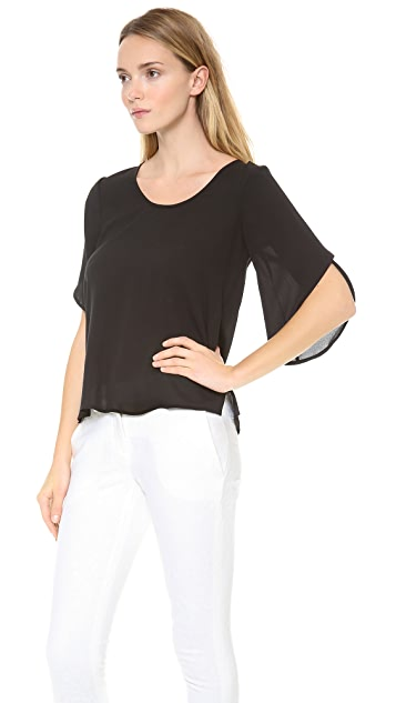 Diane von Furstenberg Nancy Petal Sleeve Top
