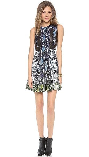 Diane von Furstenberg Ida Leather Combo Dress