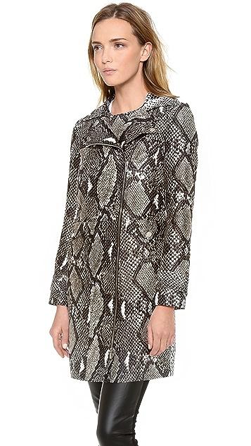Diane von Furstenberg Sally Python Print Coat