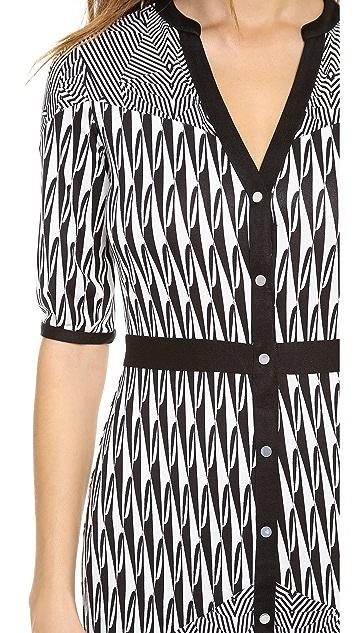 Diane von Furstenberg Fiona Button Down Dress