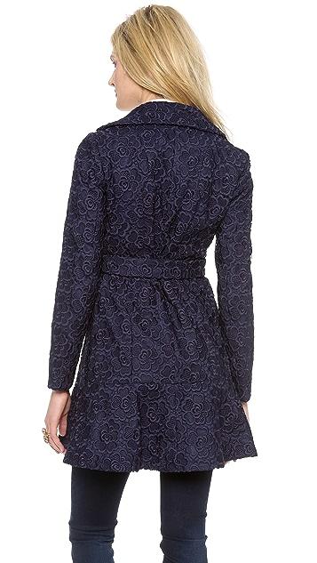 Diane von Furstenberg Tasha Lace Trench Coat