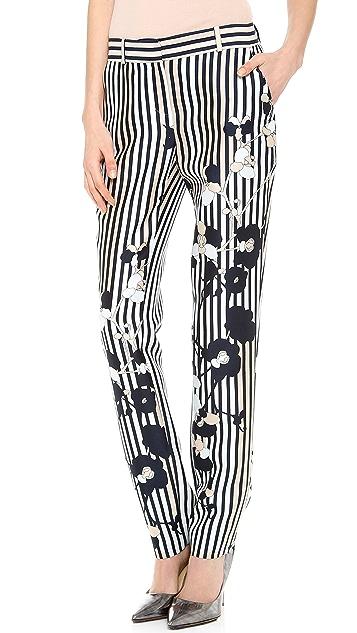 Diane von Furstenberg Mary Print Mikado Pants