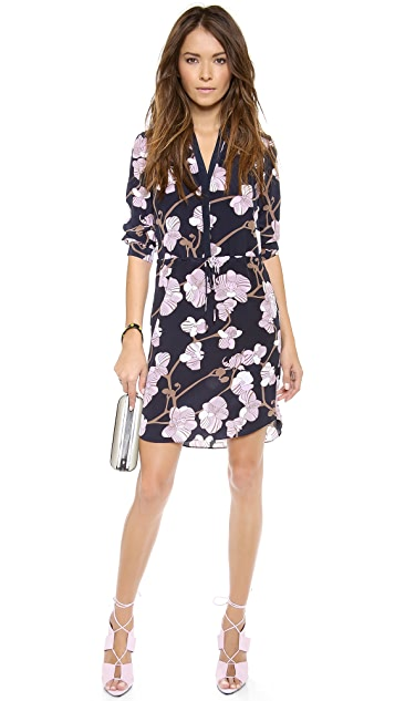 Diane von Furstenberg Freya 3/4 Sleeve Dress