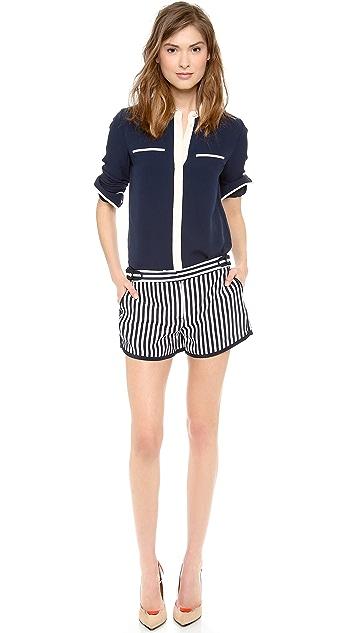 Diane von Furstenberg Tiffany Striped Shorts