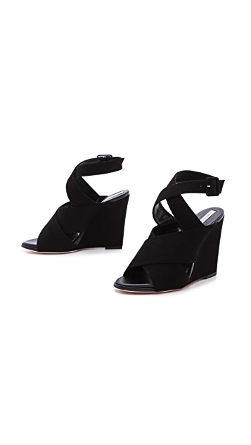 Diane von Furstenberg Wynne Wedge Sandals