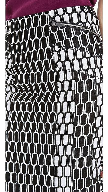 Diane von Furstenberg Laury Honeycomb Skirt