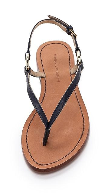 Diane von Furstenberg Cailin Flat Thong Sandal with Rings
