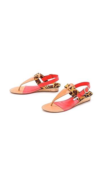 Diane von Furstenberg Darling Demi Wedge Sandals