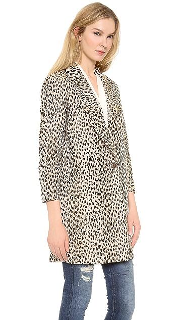 Diane von Furstenberg Britta Leopard Coat