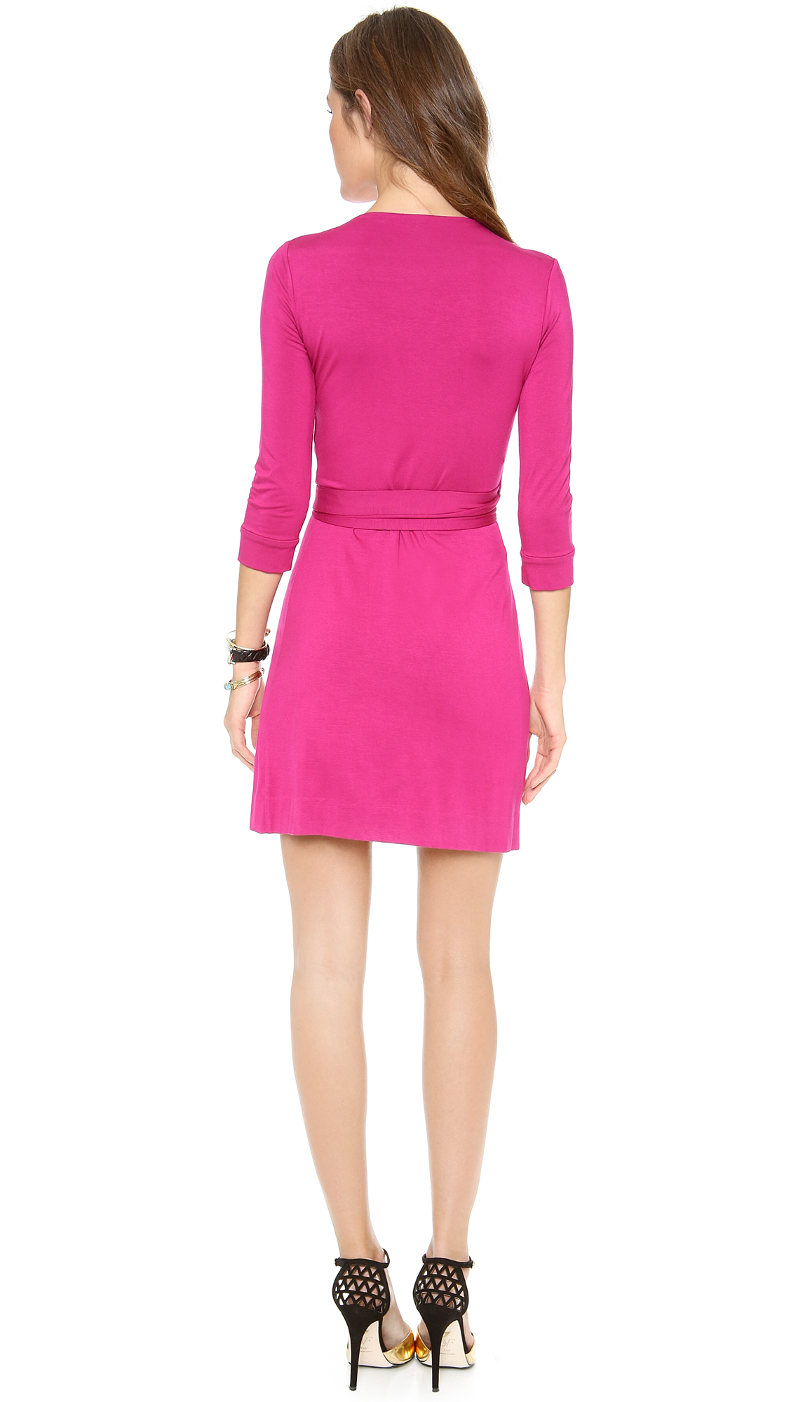 9dd1850741a1 Diane von Furstenberg New Julian Mini Wrap Dress | SHOPBOP