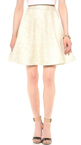 Diane von Furstenberg Luanne Python Leather Skirt