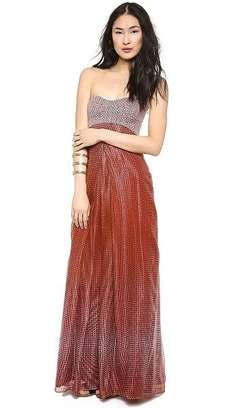 Diane von Furstenberg Adrianna Strapless Maxi Dress