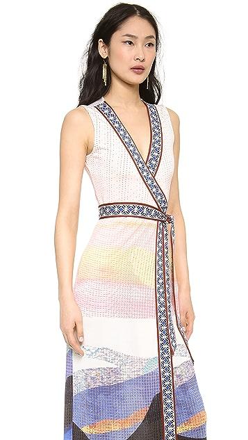 Diane von Furstenberg New Yahzi Wrap Maxi Dress