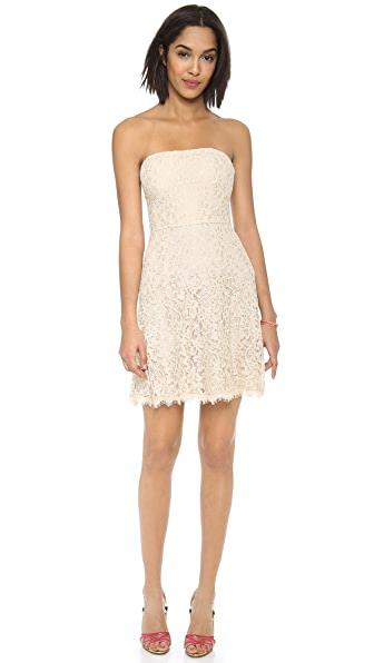Diane von Furstenberg Amira Lace Strapless Dress | 15% off first ...