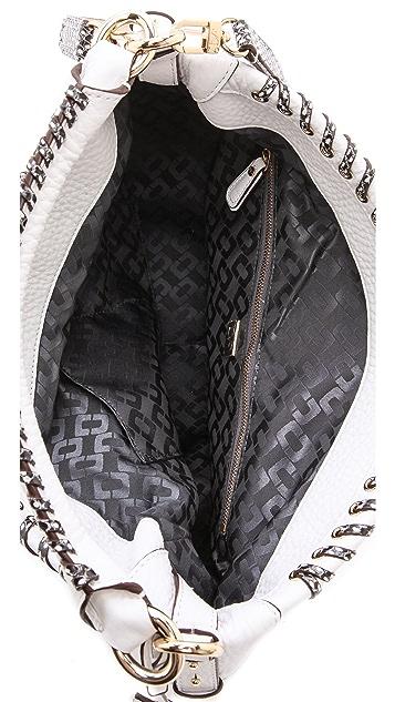 Diane von Furstenberg Laced Leather Sutra Hobo
