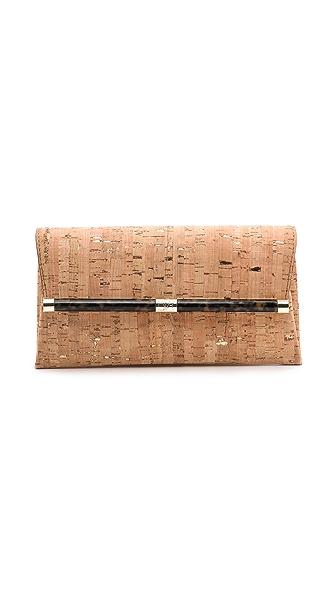 Diane von Furstenberg 440 Envelope Clutch with Metallic Cork