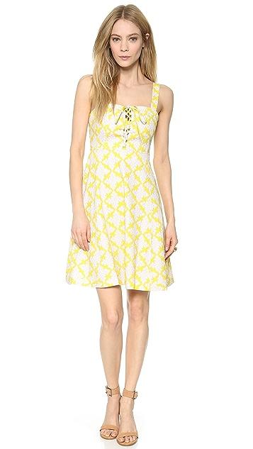 Diane von Furstenberg Luxe Lace Up Dress