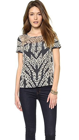 Diane von Furstenberg Angela Short Sleeve Top