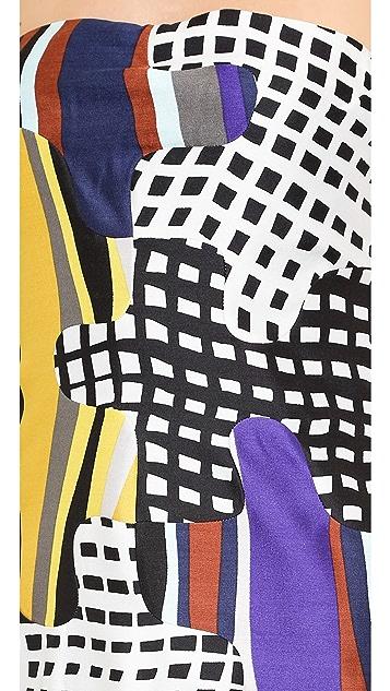 Diane von Furstenberg Maria Puzzle Strapless Dress