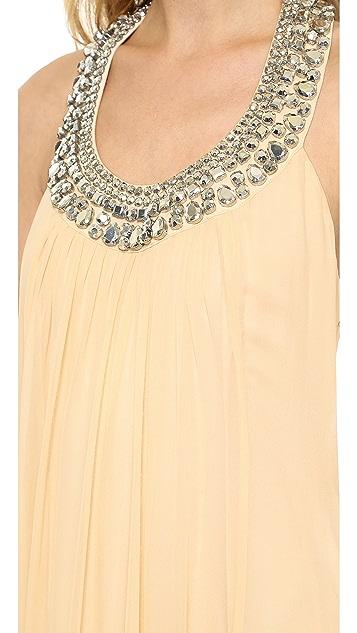 Diane von Furstenberg Willemma Crystal Neck Dress