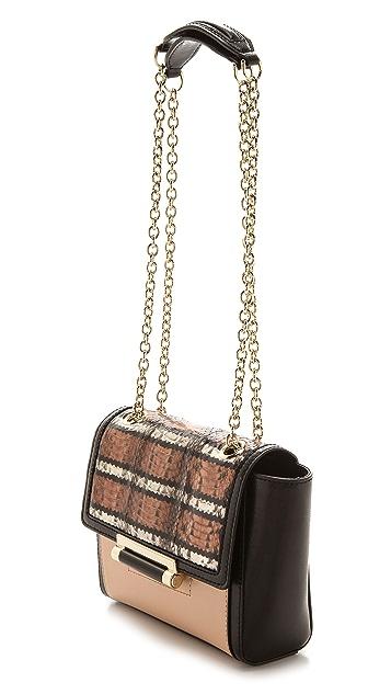Diane von Furstenberg 440 Snake Trim Mini Handbag